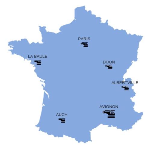 Carte localisation Airtelis