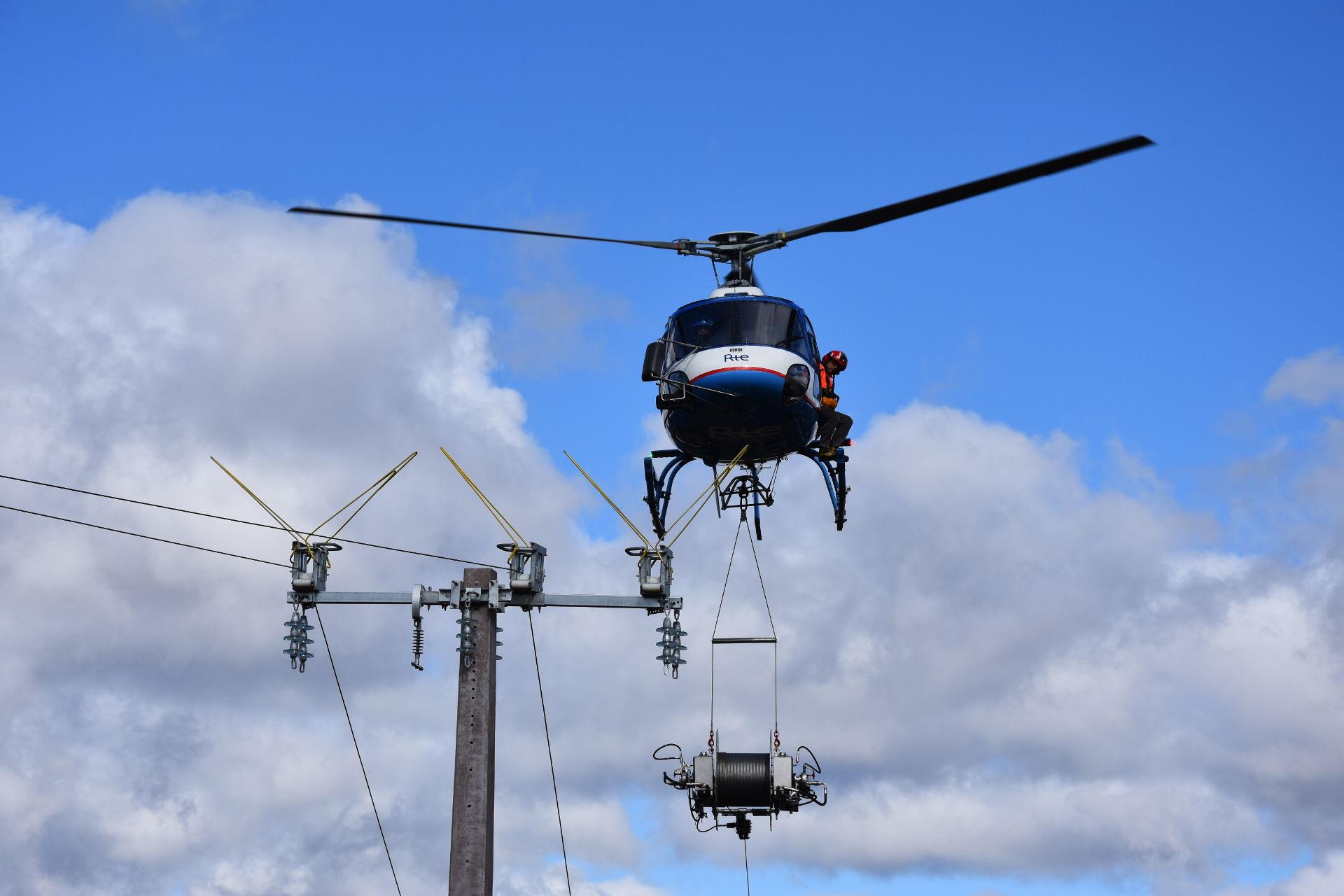 Expertise réseaux électrique déroulage de cable